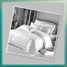 65223248377 5 Star Hotel Quality 100 Cotton Satin Stripe Duvet Cover Set With  Pillowcases Pair of Pillowcases