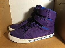 Supra Society TK Purple Lilas Royal Mens Skate Rare Size 10