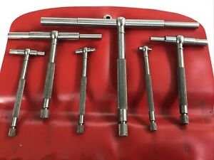 """Nice Starrett No S579H Set Of Six Telescoping Gages Machinist Tools. 5/16"""" To 6"""""""