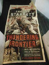 Charles Starrett Thundering Frontier Original 3-Sheet Movie Poster #N1324