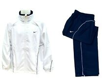 Nike Men's Tennis Loose Warm up Tracksuit Blue and White Authentic Medium