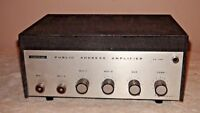 Claricon Public Address Amplifier 44-100 For Parts or Repair