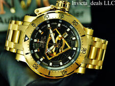 Invicta 52mm DC Comics Coalition Forces SUPERMAN AUTOMATIC Gold Tone SS Watch