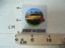 STICKER,DECAL NS DE SNELLE 1600 TREIN NO 5 SPOORHART VAN NEDERLAND