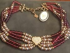 Christian Dior Germany Bijoux Beaded Crystal Collar Necklace Vintage with TAG MI