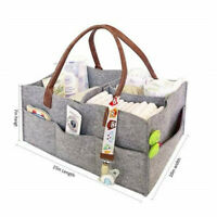 US Portable Felt Fabric Purse Handbag Organizer Bag Multi Pocket Insert