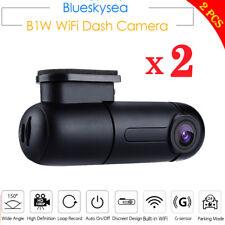 2 Set Blueskysea B1W 1080P WiFi App IMX323 Dash Camera Capacitor Car DVR Vehicle
