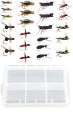 23 Piece Terrestrial Fly Fishing Fly Collection + Free Fly Box
