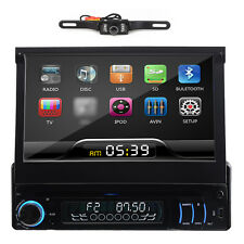 "1 Din 7"" HD 3D Car DVD Player Radio Bluetooth Ipod Touch Screen+Rear Camera"