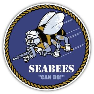 Seabees US Navy Vinyl Sticker Decal for Car Truck Cornhole Laptop
