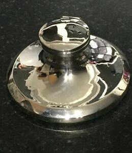 ANTIQUE ART DECO SOLID SILVER  CAPSTAN INKWELL S G JACOBS BIRMINGHAM 1919 LOVELY