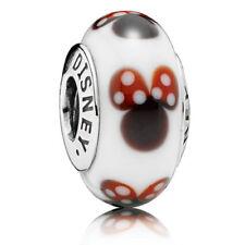NEW Authentic Pandora #791634 DISNEY CLASSIC MINNIE MOUSE Murano bead charm