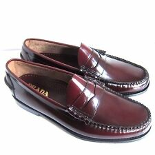 C-1477136 New Prada Burgundy Loafers Shoes Size Marked 11 US 12
