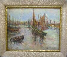 Antique (Pre-1900) Impressionism Seascape Art Paintings