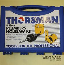 Thorsman 3311915 - 8 Piezas fontaneros holesaw Kit + Estuche. Nueva