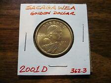 2001 D Sacagawea US Dollar Gold Coin Circulated Golden Dollar Used 362