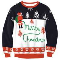 Womens Christmas Hoodie Sweatshirt Jumper Lady Sweater Xmas Pullover Tops Blouse