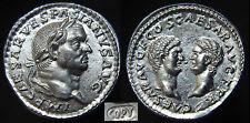 Vespasian, Titus & Domitian Denarius. 70 AD.  Silver Denarius