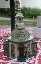 "Santa'S Workbench ""Hope Chapel"" Towne Series Figurine Porcelain Lighted House"