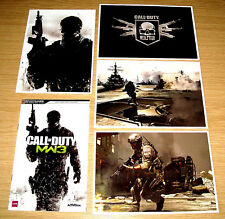CALL OF DUTY 8 MODERN WARFARE 3 GAME GUIDE POSTCARDS INTEL PACK XBOX 360 PS3 COD