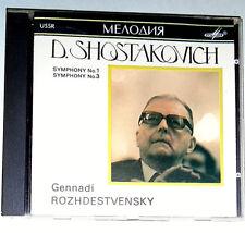 Shostakovich symphony no 1 & 3 Genady Rozhdestvensky CD