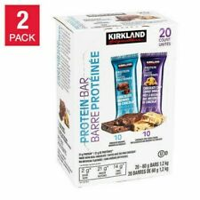 2 Packs Kirkland Signature Protein Bar Variety Pack 20 ct 42.4 oz Each Pack