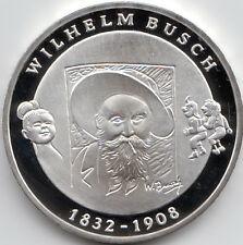 10 euro conmemorativa 175. Zorn Wilhelm Busch 2007 pulida placa de plata 925/-