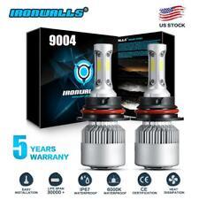 for Dodge Ram 1500 2500 3500 1994-2001 9004 HB1 LED Headlight Bulbs 6000K White