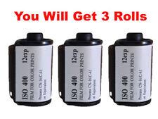 3 Rolls FilmWholesale 400Fw 35mm Film 135-12 Color Experimental Expired Test