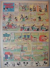 Mickey Mouse Sunday Page by Walt Disney from 11/27/1938 Tabloid Page Size