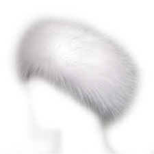 Fur Winter Hat Faux Headband Ski Earwarmer Women Russian Fox Lady Earmuff