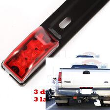 Trailer Truck LED ID BAR Light RED 3 Light 9 LED surface mount Stainless Steel