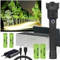 90000 lumens XLamp xhp70.2 most powerful led flashlight usb Zoom torch NEW
