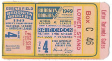 1949 BROOKLYN DODGERS WORLD SERIES Ticket YANKEES Robinson DiMaggio Game 4