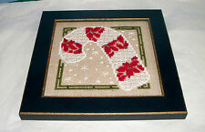 BENT CREEK CANDY CANE OF CHRISTMAS COMPLETED CROSS STITCH PICTURE FRAMED