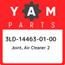 3LD-14463-01-00 Yamaha Joint, air cleaner 2 3LD144630100, New Genuine OEM Part