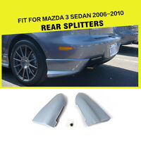 PU Rear Splitter Bumper Lips Spats Fit for Mazda 3 Axela 2006-2010 Unpainted