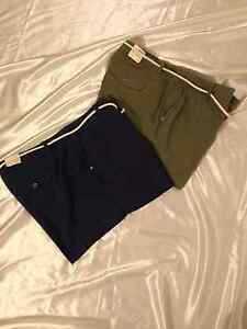 Sonoma: Women Casual Linen Blend, Zip Front Shorts w/Rope Belt: Moss, 22W