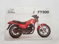 HONDA FT500-C Motorcycle Sales Specification Leaflet c1982