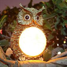 Solar Power LED Owl Light Garden Yard Decor Bird Outdoor Statue Lamp Light New
