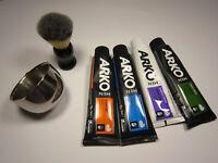 Rasiertset: Rasiermug, Rasierpinsel,Rasiercreme + 1 Rasierer Gillette blue II