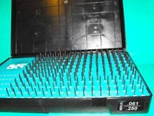 "Precision pin gauge set 190 pins 0.061""-0.250"" in 0.001"" steps B1M Minus"