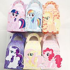 6x My Little Pony Lolly Loot Bag Box. Party Supplies Banner Flag Cake Banner