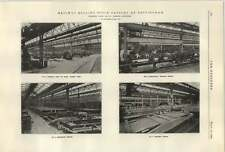 1922 Nottingham Works Cammell Laird Shop View Assembling Erection