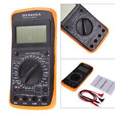 DT9205A Digital Multimeter LCD AC/DC Ammeter Resistance Capacitance Tester X5RG