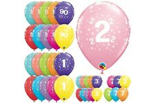 6 Latex Balloons Milestone Birthday Ages Party Decorations (Qualatex Helium)