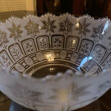 """Aesthetic Gas Glass Shade Etched 4"""" Fitter Eastlake Victorian Antique Lamp"""