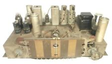 Vintage Silvertone 6439a Console Radio Part Untested Chassis With 10 Tubes