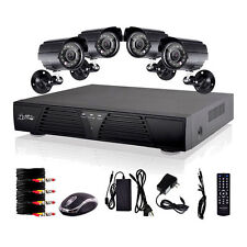 CCTV 8CH H.264 DVR HDMI Home Security 4x600 TVL Camera System Kit iPhone Android