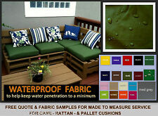 QUOTE & W/P FABRIC SAMPLES FOR *MADE TO MEASURE RATTAN PALLET FURNITURE CUSHIONS